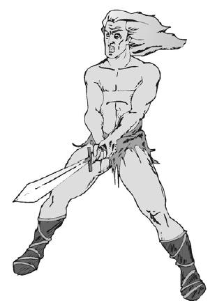 Могучий варвар и его верный двуручный меч