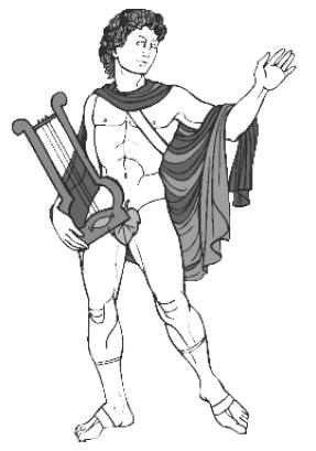 Лирник в полном боевом облачении (то есть с лирой в руках)