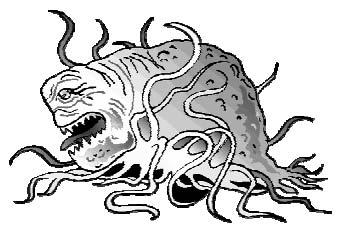 Есть в нем что-то и от мурены и от медузы... однако эта тварь отвратительнее их обоих вместе взятых