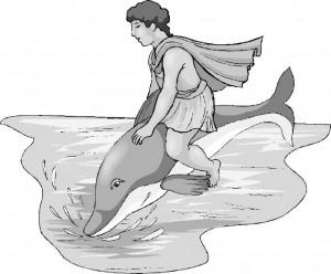 Игривый дельфин и его приятель человек (Он обязательно станет героем, когда подрастет)