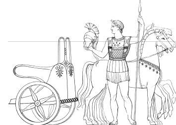 Аристократ позирующий на фоне своей колесницы