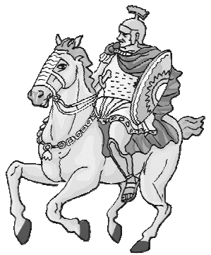 Гордый всадник и его прекрасный боевой конь