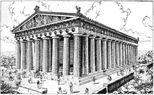 Афинон - самый большой храм, когда-либо построеный в честь богини Афины