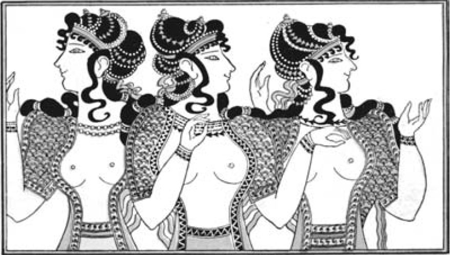 Умбрийские жрицы в традиционных костюмах. Или без них?