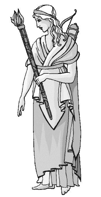 Кира, юная жрица Артемиды