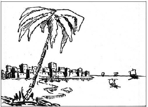Вид на Каркан с моря