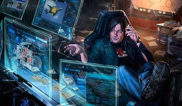 С чем столкнется персонаж-хакер, взламывая супер-защищённую компьютерную систему в вашей игре?