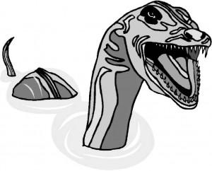 Вот так сюрприз! Морской змей!