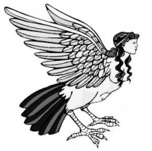 Классическая птице-женщина из мифов. Не представляю, как люди могут путать их с русалками?