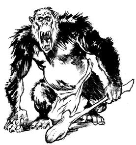 Ужасный обезьяночеловек с табельной дубиной