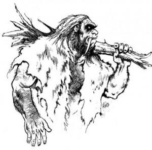 Дикий, живущий в пещере людоед