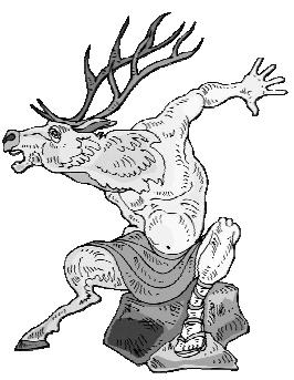 Оборотень превращающийся в оленя (или в актеона?)