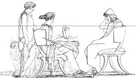 Три афинских искателя приключений за обсуждениями последних новостей (о! только не говорите, что эти идиоты из Аргоса и Гераклеи снова взялись за своё!)