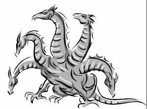 Пятиголовая морская гидра