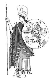 Смелый копьеносец демонстрирующий своё превосходное снаряжение (включая элегантный шлем гермафродита)