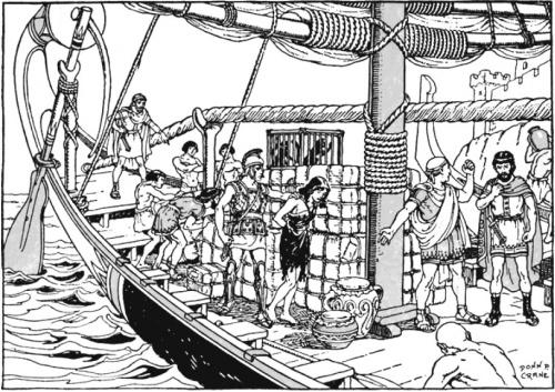 Аргосцы имеют две большие страсти: торговля (в том числе и рабами, как показано выше) и конечно же море