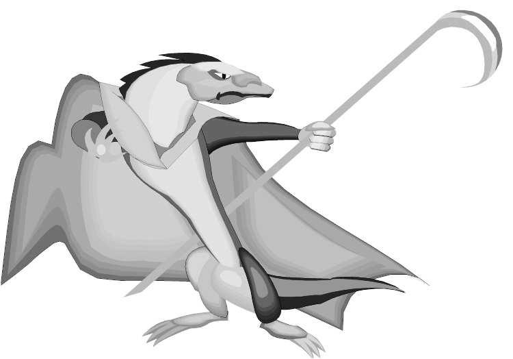 Таинственный драконианин со своим необычным оружием