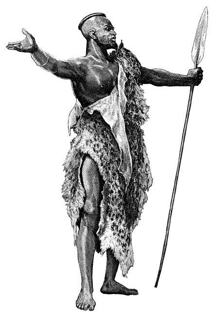 Воин племени кари