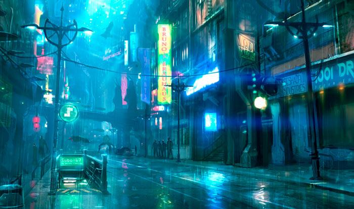 Создание игрового мира в жанре киберпанк