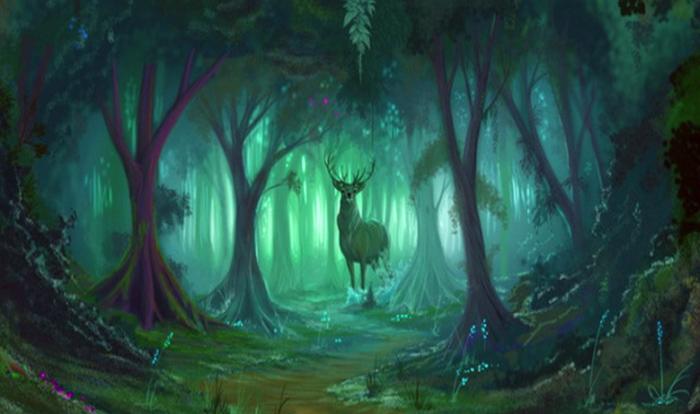 описание леса для игры и книги