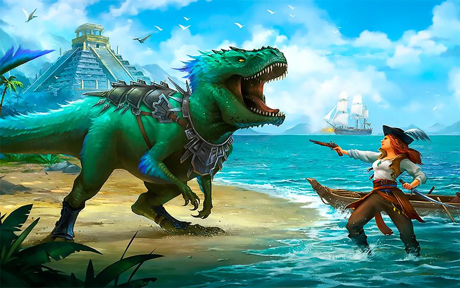 Наездники на динозаврах в ролевых играх